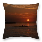 Manila Bay At Dusk. Throw Pillow