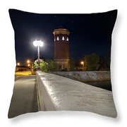 Manistique Water Tower Big Dipper -2293 Throw Pillow