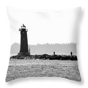 Manistique's Eyes Throw Pillow