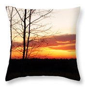 Manitoba Sunset Throw Pillow