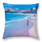 Manly Beach Throw Pillow