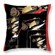 Mannequin Collage Jerome Arizona 1968-2013 Throw Pillow