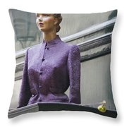 Mannequin In The Passage Throw Pillow