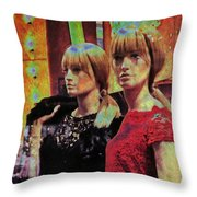 10496 Mannequin Series 07 - Let's Party Throw Pillow