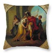 Manner Of Angelica Kauffman Throw Pillow