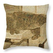 Mannie Is Relaxing Throw Pillow