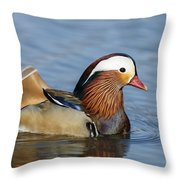 Manny Afloat Throw Pillow