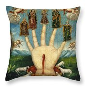 Mano Poderosa. The All-powerful Hand Throw Pillow