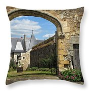 Manor House Entry Throw Pillow