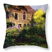 Manor House Steps Throw Pillow