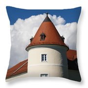Manor House Tower Throw Pillow