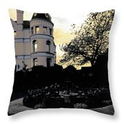 Manresa Castle Throw Pillow