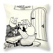Mans Head Inn Throw Pillow
