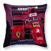 Mansell Ferrari 641 Throw Pillow