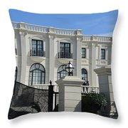 Mansion At The Beach Throw Pillow