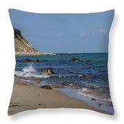 Mansion Beach, Block Island Throw Pillow
