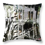 Mansion Of Obsession Throw Pillow