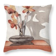 Mantel Flowers Throw Pillow