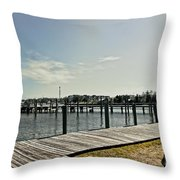 Manteo Waterfront Throw Pillow