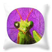 Mantis Religiosa Throw Pillow