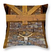 Mantle And Chimney Throw Pillow