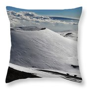 Mauna Kea Dressed In Snow Throw Pillow