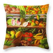 Manuel And His Fruit Stand Throw Pillow