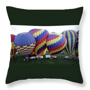 Many Balloons Throw Pillow