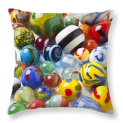 Many Beautiful Marbles Throw Pillow