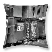 Many Bins Throw Pillow