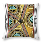 Many Circles Throw Pillow