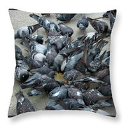Many Doves At Piazza San Marco Venice Throw Pillow