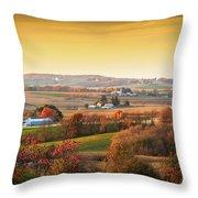 Many Farms Throw Pillow
