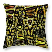 Many Flowers Abstract Throw Pillow