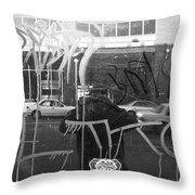 Many Layers Throw Pillow
