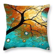 Many Moons Ago By Madart Throw Pillow