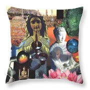 Many Paths Throw Pillow