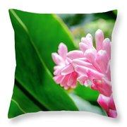Many Pink Petals Throw Pillow