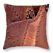 Many Rivets Throw Pillow