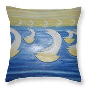 Many Sailing Boats On The Sea Throw Pillow