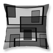 Many Shades Of Neutral Throw Pillow