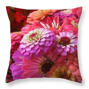 Many Shades Of Pink Throw Pillow