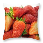 Many Strawberry Throw Pillow