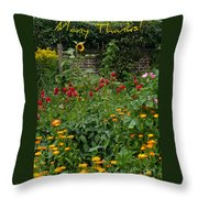 Many Thanks Card Throw Pillow