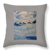 Many Valleys Throw Pillow