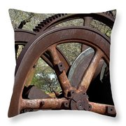 Many Wheels Throw Pillow