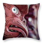 Maori Carving Throw Pillow