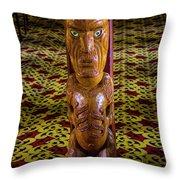 Maori Greeter Throw Pillow