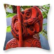 Maori Guardian Throw Pillow