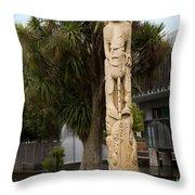 Maori Poupou Throw Pillow